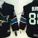 #88 Brent Burns Black Youth Ice Hockey Jerseys Kids Boys Stitched Jersey