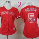 Los Angeles Angels Women Jersey #5 Albert Pujols Red