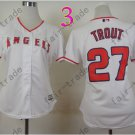 Los Angeles Angels Women Jersey  #27 Mike Trout White