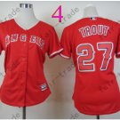 Los Angeles Angels Women Jersey  #27 Mike Trout Red