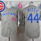 Anthony Rizzo Jersey Chicago Cubs 44# Baseball Jersey, Stitched High Quality Gray Style2