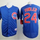 With 2016 World Series Patch Chicago Cubs Baseball Jerseys 24 Dexter Fowler Flexbase Cool Base Blue