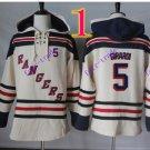 new york rangers #5 dan girardi hoodie Hockey Hooded Stitched Old Time Hoodies Sweatshirt Jerseys