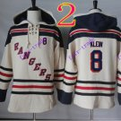 new york rangers #8 kevin klein hoodie Hockey Hooded Stitched Old Time Hoodies Sweatshirt Jerseys