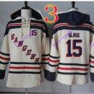 new york rangers Tanner GLASS #15 hoodie Hockey Hooded Stitched Old Time Hoodies Sweatshirt Jerseys