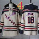 new york rangers #18 Marc Staal hoodie Hockey Hooded Stitched Old Time Hoodies Sweatshirt Jerseys