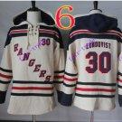 new york rangers #30 Henrik Lundqvist hoodie Hockey Hooded Stitched Old Time Sweatshirt Jerseys
