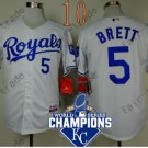 #5 George Brett Jersey White Throwback Kansas City Royals Jerseys Style 4
