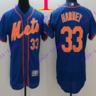 2016 Flexbase Stitched New York Mets 33 Harvey Throwback Blue Jersey