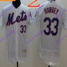 2016 Flexbase Stitched New York Mets 33 Harvey White Throwback Jersey