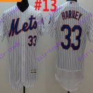 2016 Flexbase Stitched New York Mets 33 Harvey White Throwback Jersey Style 3