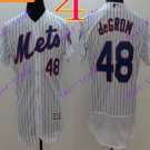 2016 Flexbase Stitched New York Mets 48 DeGrom White Throwback Jersey Style 1