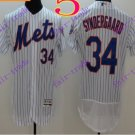 2016 Flexbase Stitched New York Mets 34 Syndergaard White Throwback Jersey Style 1