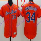 2016 Flexbase Stitched New York Mets 34 Syndergaard Red Throwback Jersey Style 1