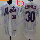 2016 Flexbase Stitched New York Mets 30 Conforto White Throwback Jersey Style 1