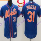 2016 Flexbase Stitched New York Mets 31 Piazza Blue Throwback Jersey Style 1
