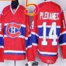 Stitched Montreal #14 Tomas Plekanec Red winter classic Ice Hockey Jersey