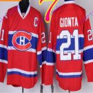 Stitched Montreal #21 Brian Gionta Red winter classic Ice Hockey Jersey