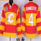 Stitched Calgary Flame #4 Jay Bouwmeester Red winter classic Hockey Jerseys Ice Jersey
