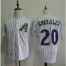 Arizona Diamondbacks #20 Luis Gonzalez White Throwback Retro Stitched Jersey