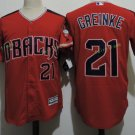 Arizona Diamondbacks #21 Zack Greinke Red Throwback Retro Stitched Jersey