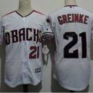 Arizona Diamondbacks #21 Zack Greinke White Throwback Retro Stitched Jersey