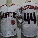 Arizona Diamondbacks #44 Paul Goldschmidt White Throwback Retro Stitched Jersey
