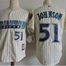 Arizona Diamondbacks #51 Randy Johnson White Throwback Retro Stitched Jersey