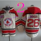 Boston Red Sox #26 wade boggs Baseball Hooded Stitched Old Time Hoodies Sweatshirt Jerseys