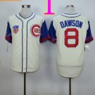 #8 Andre Dawson Jersey Vintage White Montreal Expos Chicago Cubs Jerseys Style 1