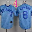 #8 Andre Dawson Jersey Vintage Blue Montreal Expos Chicago Cubs Jerseys Style 1