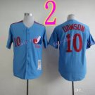 #10 Andre Dawson Jersey Vintage Blue Montreal Expos Chicago Cubs Jerseys Style 1