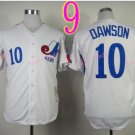 #10 Andre Dawson Jersey Vintage White Montreal Expos Chicago Cubs Jerseys Style 1