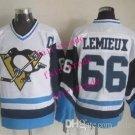#66 mario lemieux Throwback Vintage Jersey White ICE Hockey Jerseys Heritage Stitched Style 2