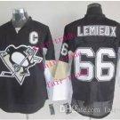 #66 mario lemieux Throwback Vintage Jersey Black ICE Hockey Jerseys Heritage Stitched Style 1