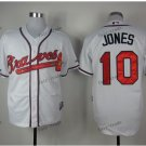 atlanta braves #10 chipper jones 2015 Baseball Jersey White Rugby Jerseys Authentic Stitched Style 1