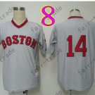 Boston Red Sox Jersey 14 Jim Rice Gray Shirt Throwback Baseball Jersey