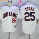 25 Jim Thome  White Indians Jersey 1978 Vintage