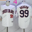 99 Ricky Vaughn  White Indians Jersey 1978 Vintage