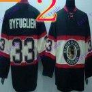 Stitched NHL Chicago Blackhawks 33 BYFUGLIEN Black Hockey Jerseys Ice