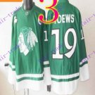 Stitched NHL Chicago Blackhawks  19 jonathan toews Green Hockey Jerseys Ice