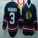 Stitched NHL Chicago Blackhawks 3 MAGNUSON Black Hockey Jerseys Ice