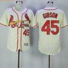 st. louis cardinals #45 bob gibson Cream 2017 Baseball Jerseys