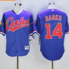 Chicago Cubs #14 Ernie Banks Away Baseball Jersey Blue Throwback Base Stitched Jerseys Style 1