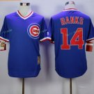 Chicago Cubs #14 Ernie Banks Away Baseball Jersey Blue Throwback Base Stitched Jerseys Style 4