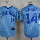 Chicago Cubs #14 Ernie Banks Away Baseball Jersey Blue Throwback Base Stitched Jerseys Style 5