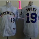 Robin Yount Jersey 1982 Retro White Milwaukee Brewers Jerseys Throwback Style 1