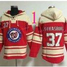 Washington Nationals Jersey 37 Stephen Strasburg Pullover Hoodies Sweatshirt