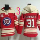 Washington Nationals Jersey  31 Max Scherzer Pullover Hoodies Sweatshirt