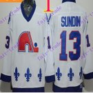 Cord NHL Quebec Nordique 13 Sundin White Hockey Jersey Stitched